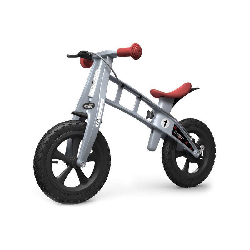 Беговел FirstBIKE Cross silver