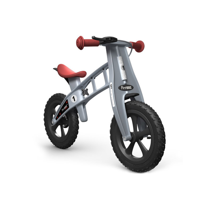Беговел FirstBIKE Cross silver 3