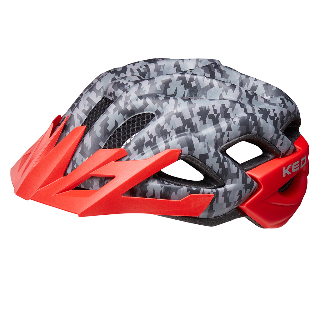 Детский шлем KED Status Junior Camouflage Anthracite Red M